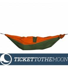 Hamac pentru copii Ticket To The Moon Mini Kaki-Orange, 150 × 100 cm, 200 grame
