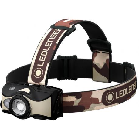 Lanterna frontala reincarcabila 600 lumeni Led Lenser MH8 Black-sand