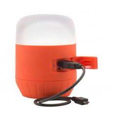 Lanterna camping cu statie de incarcare USB Black Diamond Moji, 250 lumeni, 4 x AA, orange