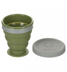 Cana pliabila cu capac, silicon, BPA free, 200 ml MFH
