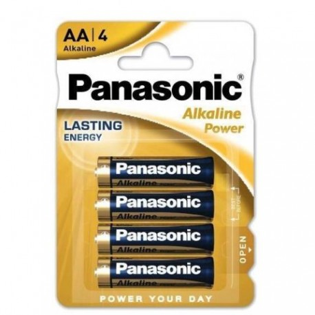 Baterii alcaline R6 / AA Panasonic Alkaline Power 1,5 V set 4 buc
