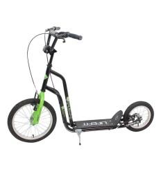 Trotineta Rider 16''/12'' Negru/Verde