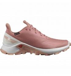 Pantofi alergare femei Salomon ALPHACROSS BLAST GTX W Caramiziu