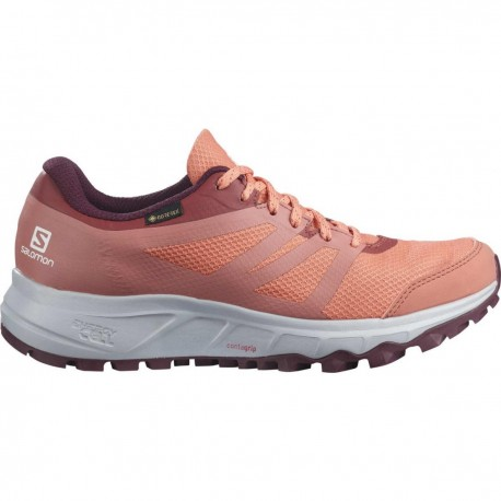 Pantofi alergare femei Salomon TRAILSTER 2 GTX W Caramiziu