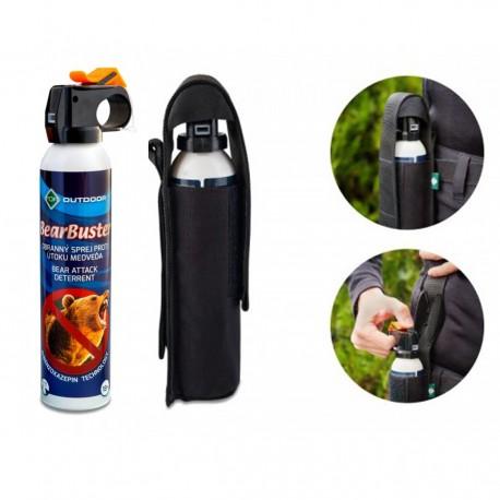 Spray urs 300 ml autoaparare impotriva ursilor For Bearbuster cu husa