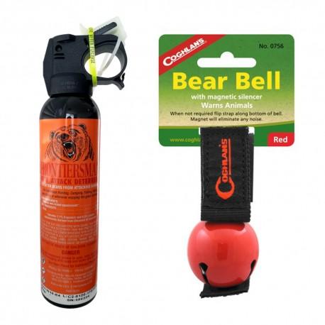 Set spray urs Sabre Frontiersman 260 grame + clopotel avertizare sonora animale