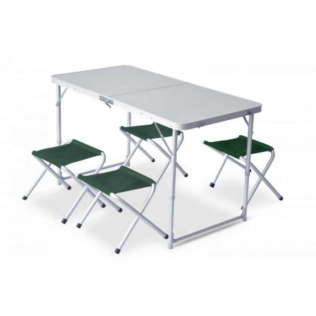 Set masa camping cu 4 scaune Pinguin