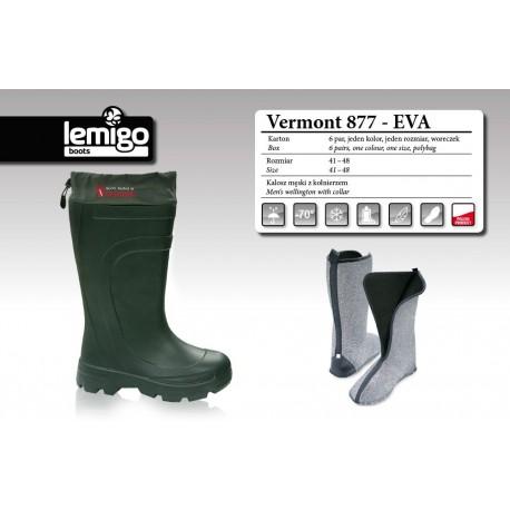 Cizme de cauciuc -70 grade cu ciorap detasabil Lemigo Vermont 877