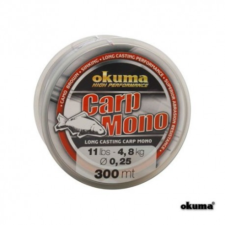 Fir crap 0,28mm 5,8kg 300M monofilament Okuma
